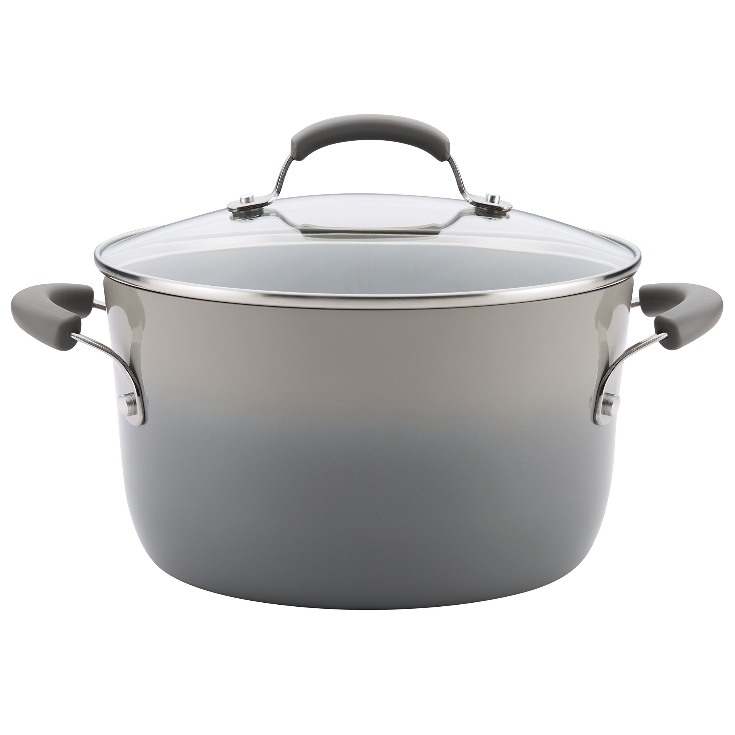 Rachael Ray 19013 Ii Stockpot Nonstick, 6 quart, Sea Salt Gray
