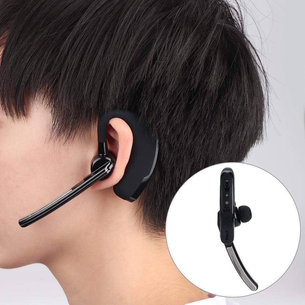 Ciglow Bluetooth Earpiece, Portable K-Head Wireless Bluetooth 4.0 Headset Earpiece with PTT Microphone Interphone Bluetooth Headset for All K-Plug Walkie Talkie by Ciglow (Image #2)
