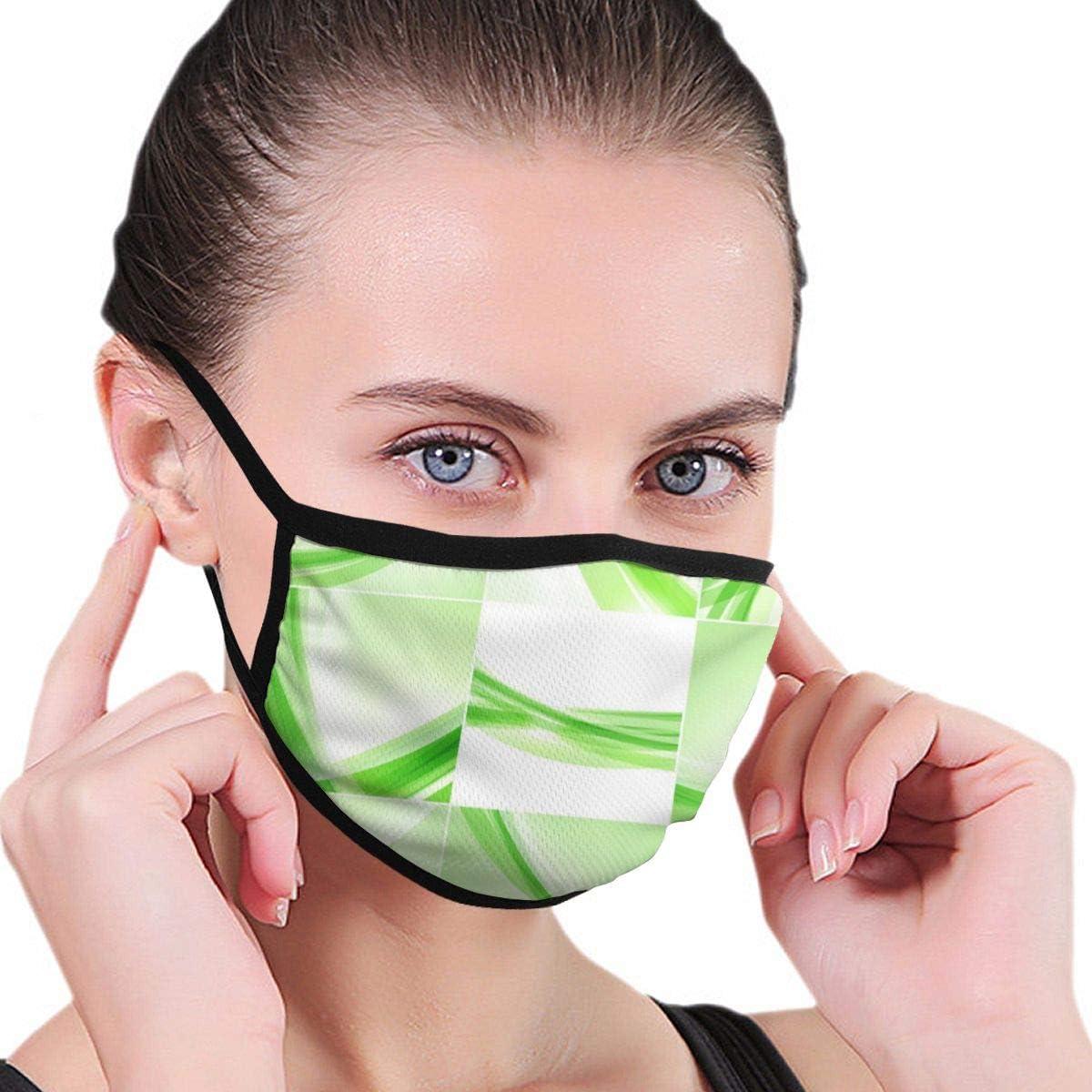 Fondo Abstracto Conjunto Ondas Verdes en luz Vector de Imagen_1433Máscara Facial Unisex Negra Mascarilla antipolución Máscara de Polvo Boca Reutilizable Máscaras para Ciclismo Camping Travel