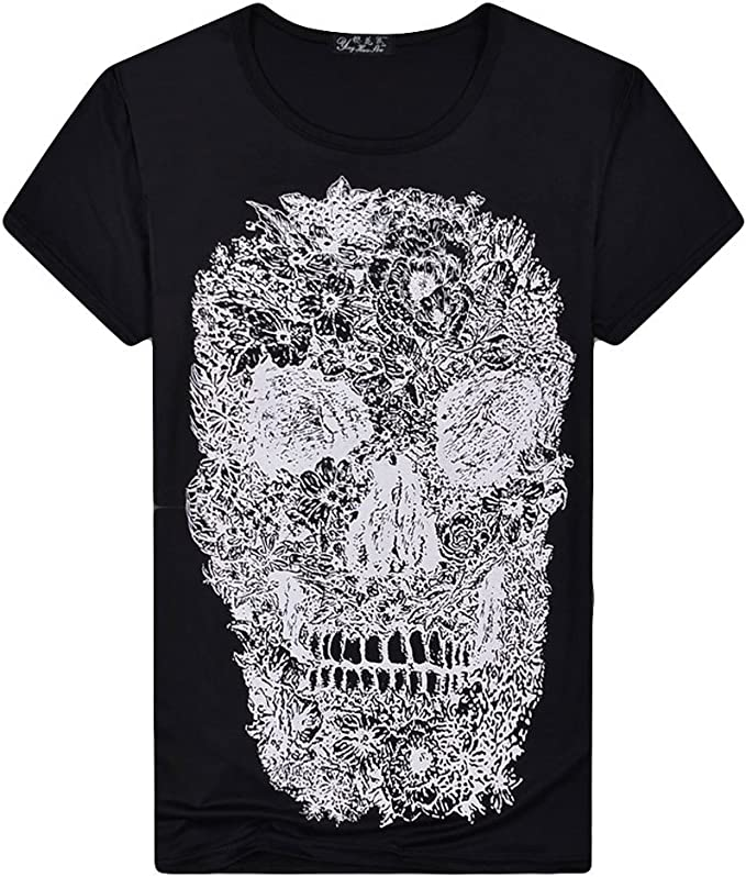 NEW WOMEN/'S SKULL PRINTED LADIES VEST TOP TEE T-SHIRT SIZE SM /& M//L
