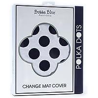Bubba Blue Polka Dots Change Mat Cover, Grey