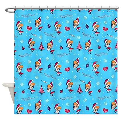 CafePress I Love Lucy Christmas Pattern Decorative Fabric Shower Curtain 69quot