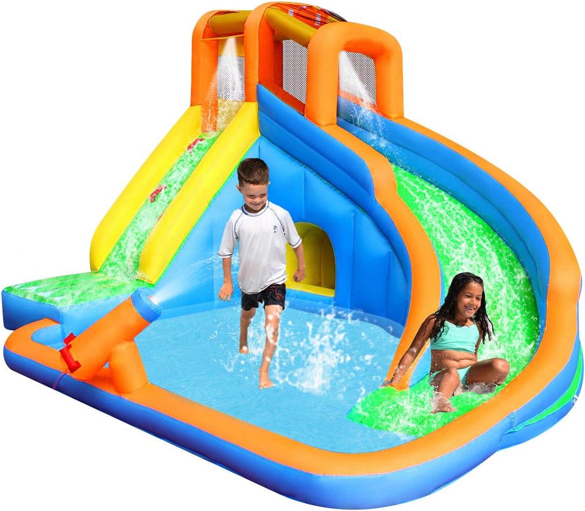 Amazon.com: RETRO JUMP Toboganes de agua inflables, 105 ...