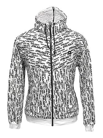 23fa43cb4 Nike Graphic Print Poly Windbreaker Jacket - White-XL: Amazon.co.uk:  Clothing