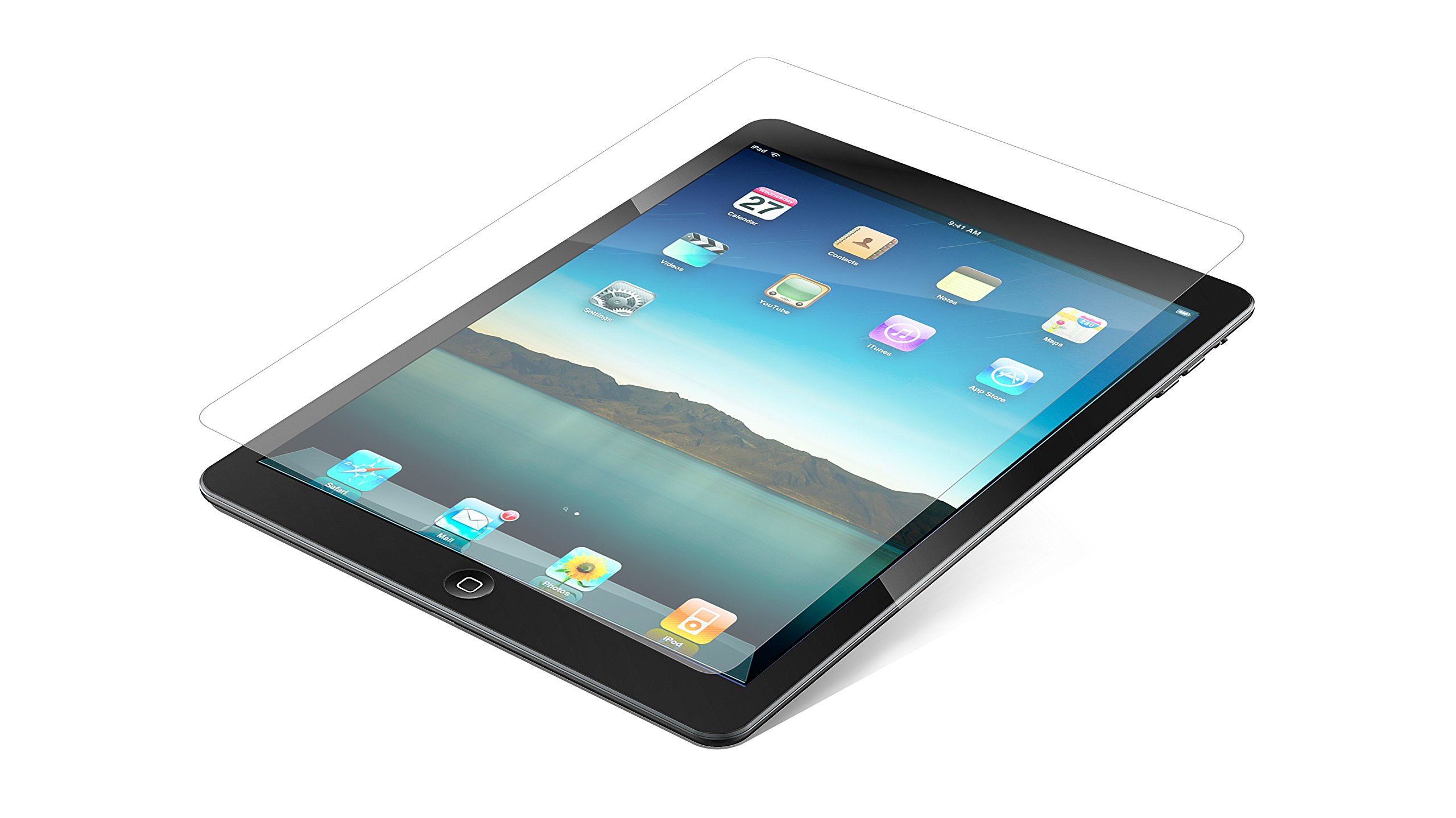 ZAGG InvisibleShield Glass Screen Protector for Apple iPad 2, iPad 3rd Generation and iPad with Retina - Clear