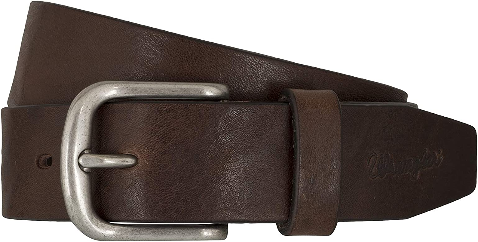 Wrangler Kabel Buckle Belt Brown 105cm