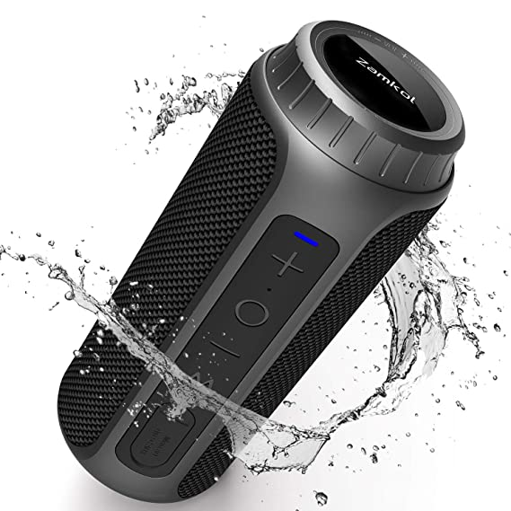 Zamkol Altavoz Bluetooth, 30W Altavoces Bluetooth portatiles, Sonido Estéreo de 360 Grados y X-Bass Mejorado, Sonido Estéreo TWS, Bluetooth 5.0, 10-15 Horas de Reproducción, Impermeable IPX6