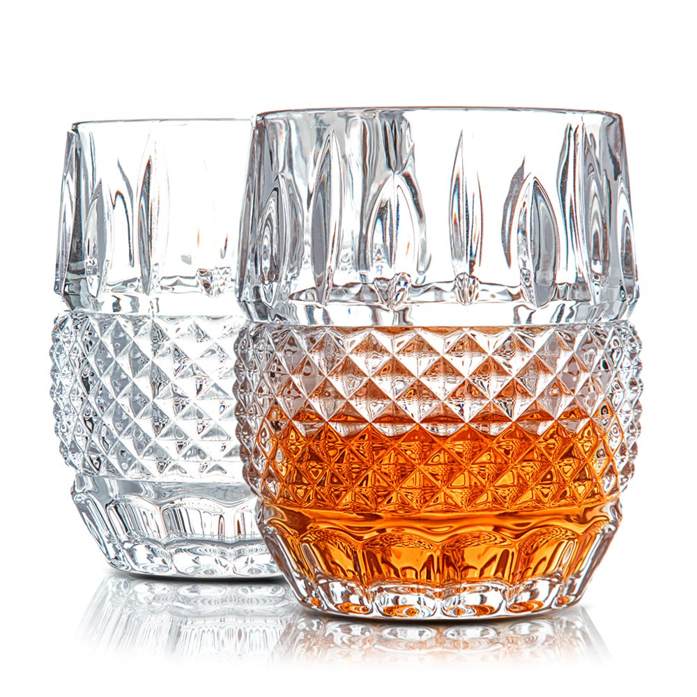 Amazon.com | \'Crystal Cask\' Lead Free Crystal Whiskey Glasses by Van ...