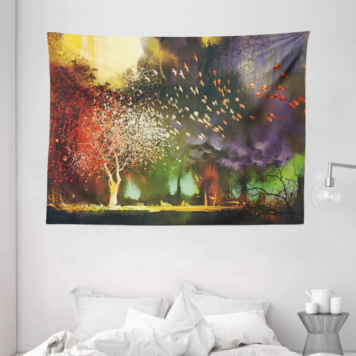 Amazon Com Ambesonne Fantasy Tapestry Fairy Forest With