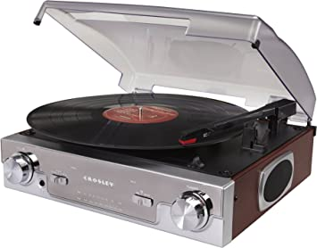 Delightful Crosley CR6005A MA Tech Turntable With AM/FM Radio And Portable Audio Ready  (