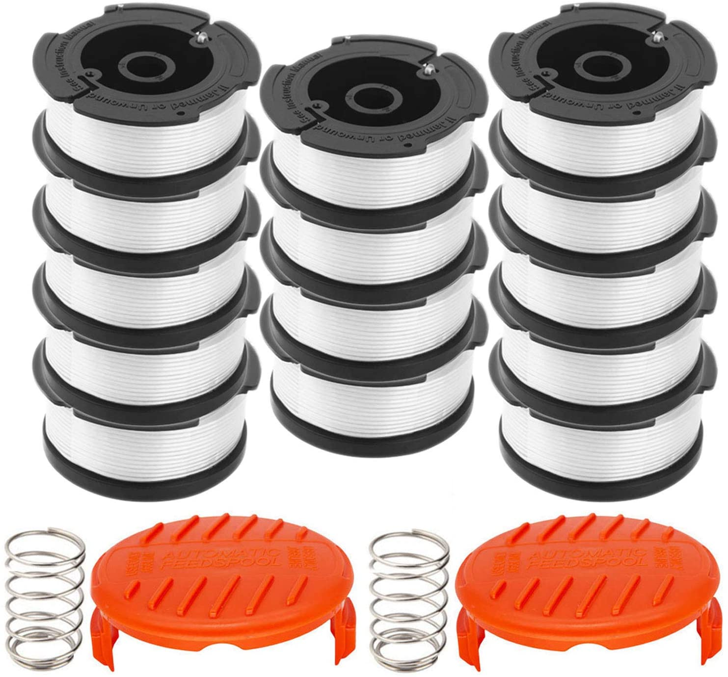 Compatible with Black /& Decker AF-100//Replacement Autofeed Spool 30ft 0.065 3-Pack 3-Pack or 6-Pack Optional GARDENOK Line String Trimmer Replacement Spool