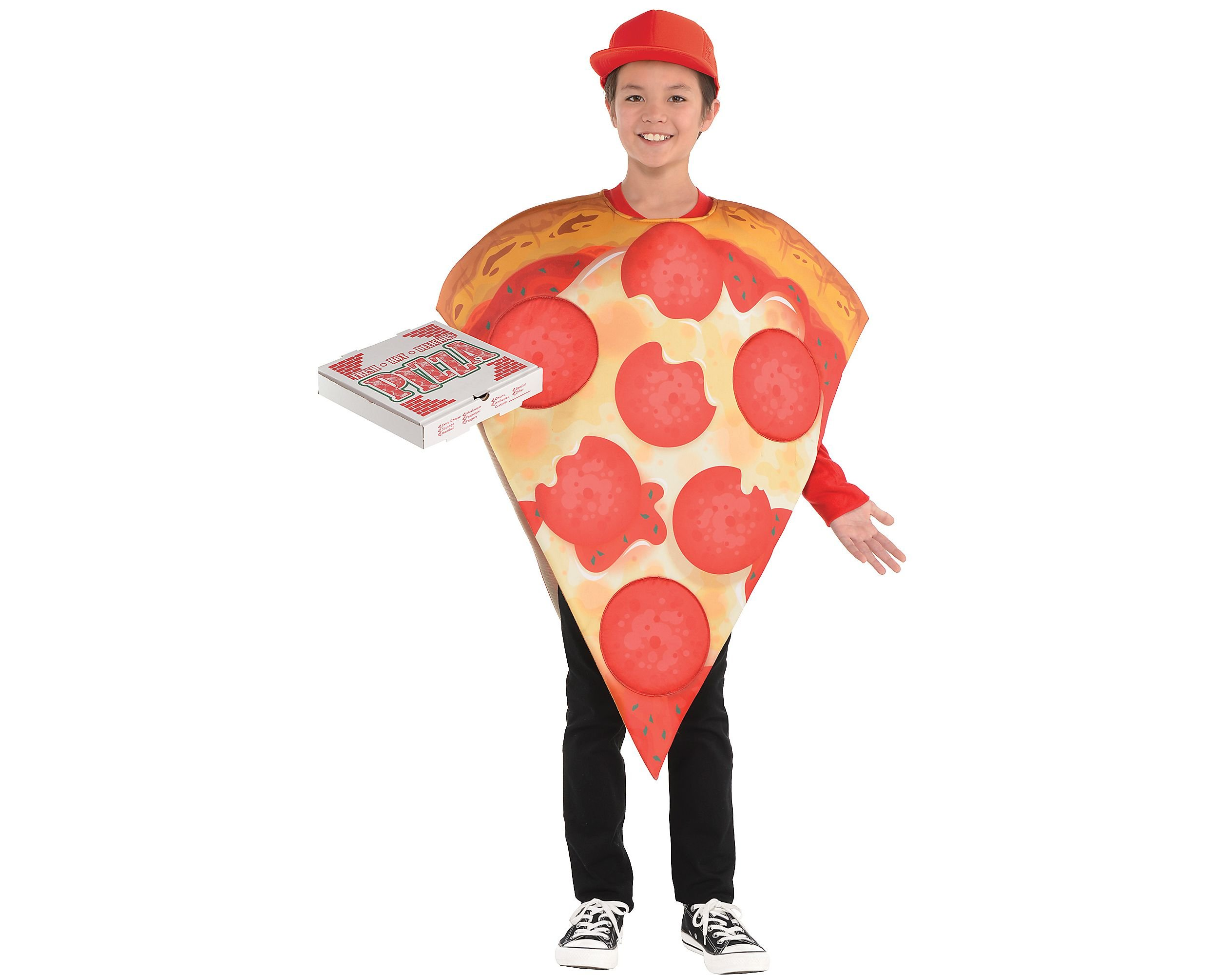 AMSCAN Pizza Halloween Costume for Kids, Standard, with Included Accessories