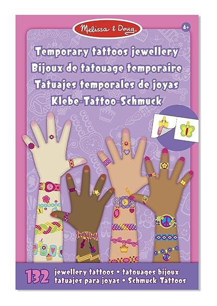 Melissa Doug Tatuajes Temporales Joyas Amazoncommx Juegos Y