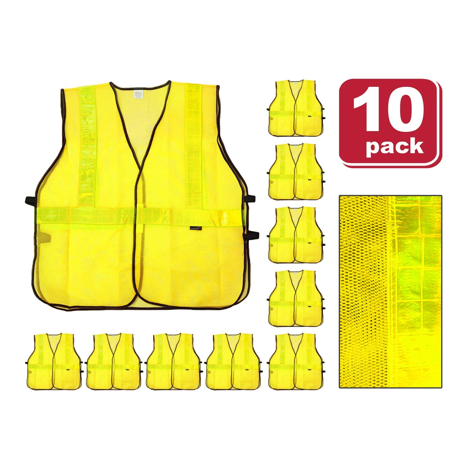 Efficient Reflective Vest Breathable Mesh Multi Pockets Construction Traffic Safety Protective Jacket Fluorescent Clothes Work Clothing Security & Protection Safety Clothing