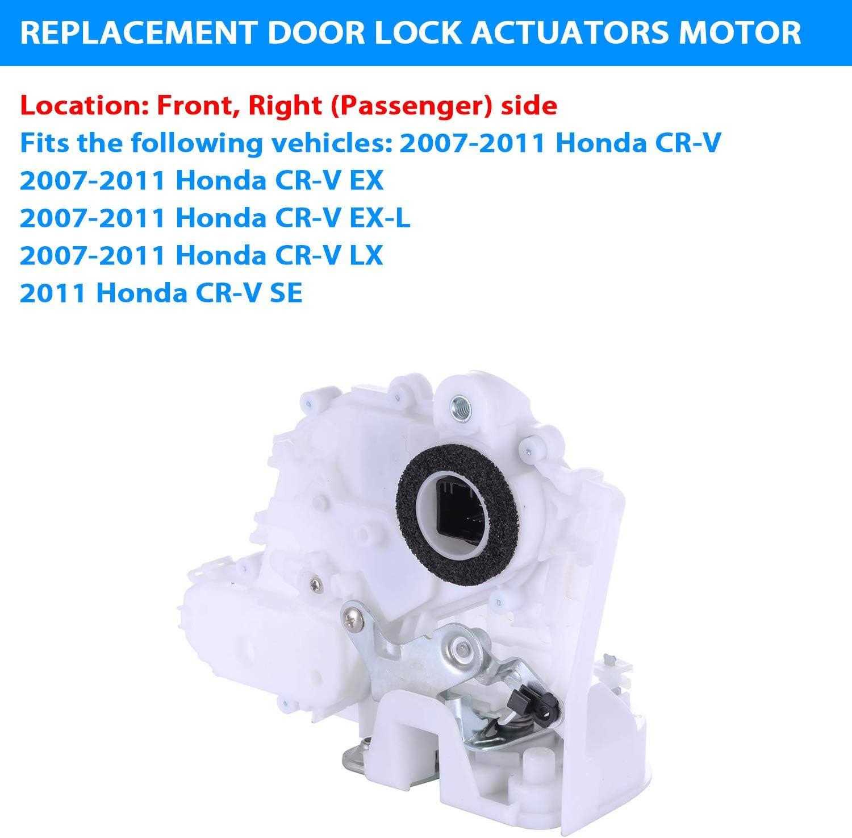 Front Right Door Lock Actuators Door Latch 72110-SWA-D01 for 2007-2011 Honda CR-V