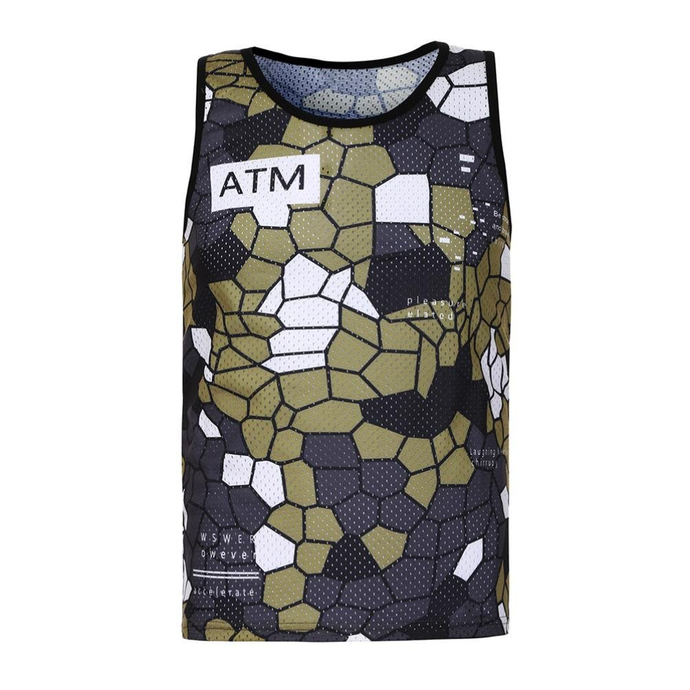 Pumsun Fashion Surf Mens Camouflage Print Tank Slim Fit Muscle Camouflage Waistcoat
