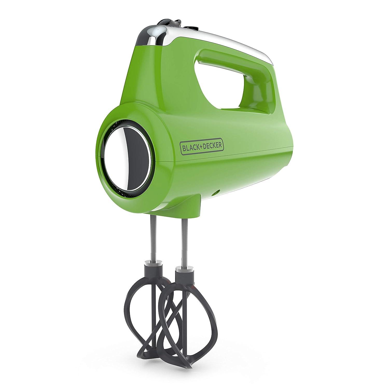 BLACK+DECKER MX600L Helix Performance Premium 5-Speed Hand Mixer, Lime Green (Renewed)