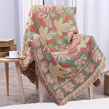 Amazon.com: ZMYLOVE - Manta para sofá con diseño de hojas de ...