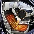 AUDEW 12V車用ホット シートヒーター 座面・腰面にヒーターを内蔵 車載 防寒 座席用 カー用品 車中泊 ホットクッション 簡単取付 ブラック