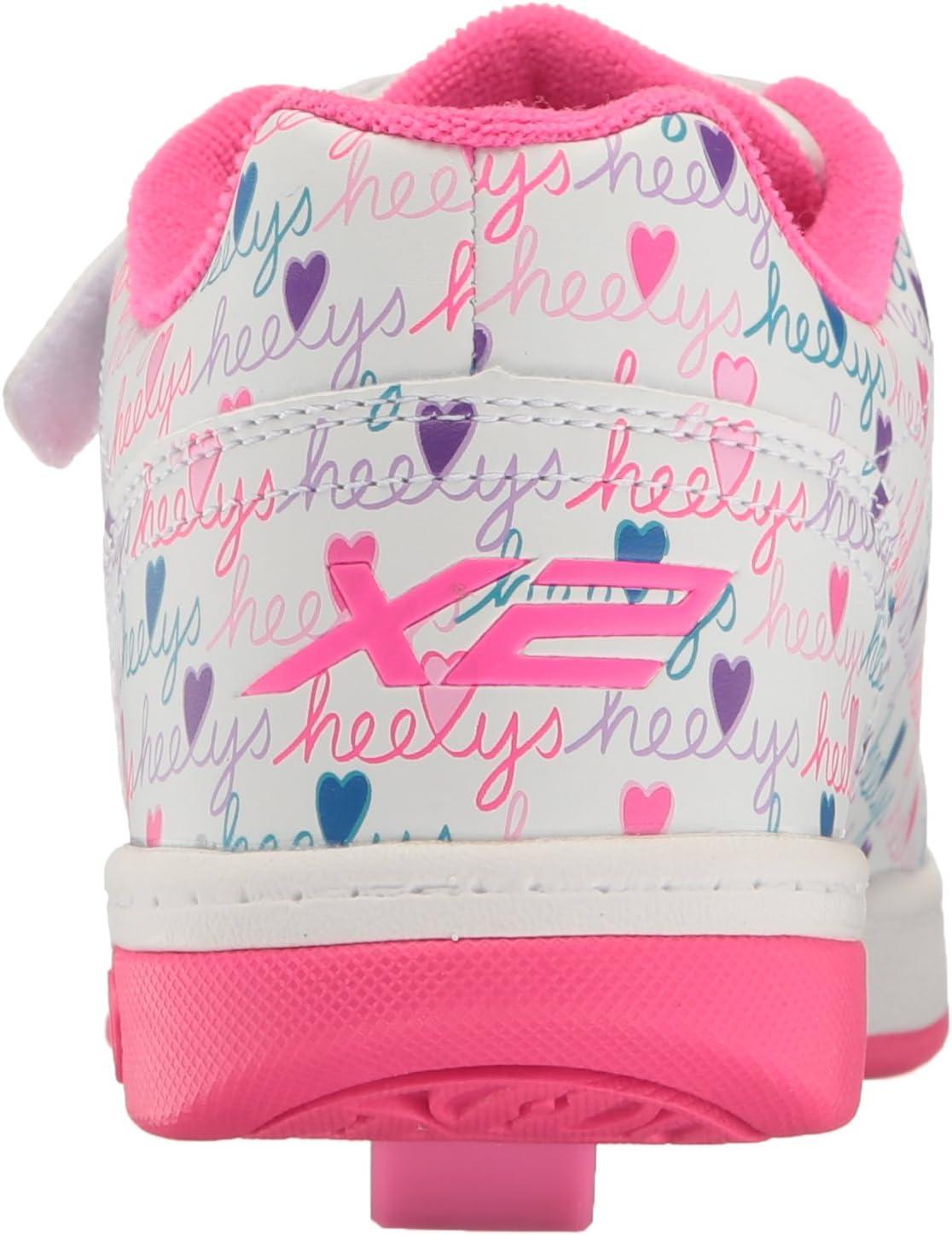 Multicolour Heelys Girls X2 Fitness Shoes 2 UK 2UK White//Pink//Multi 000
