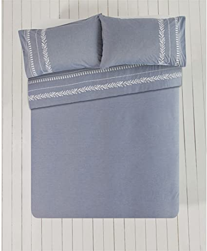 Heart Of House Aldeburgh Chambray Bedding Set Double Amazon Co Uk Kitchen Home