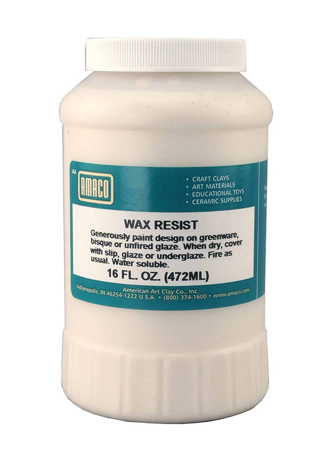 Amaco 1 Pint Jar Wax Resist 41382A