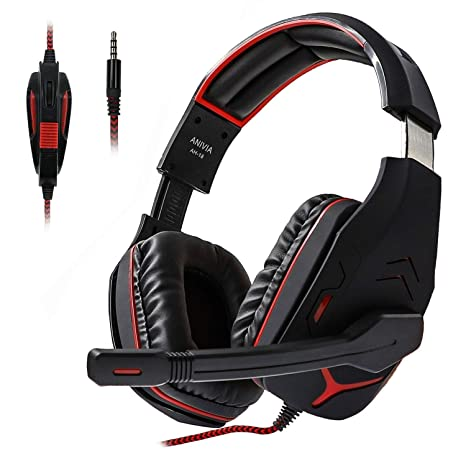 Gaming Headset Ps4 Gaming Headphone with Noise Canceling Mic Headset Adapter, Soft Memory Earmuffs Bass Surround for Xbox One PC Laptop Tablet Mac