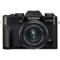 Fujifilm X-T20 Systemkamera (mit XC15-45mm Objektiv Kit, Touch LCD 7,6cm (2,99 Zoll) Display, 24,3 Megapixel APS-C X-Trans CMOS III Sensor) schwarz