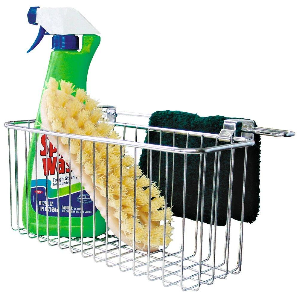 InterDesign - Canasto Sobre pileta de lavadero, con toallero - Cromado: Amazon.es: Hogar