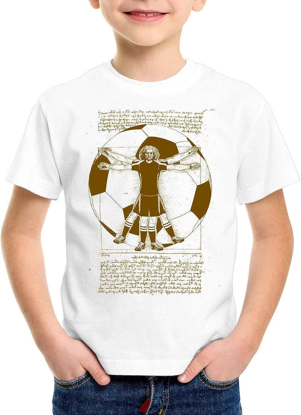 CottonCloud Futbolista de Vitruvio Camiseta para Niños T-Shirt ...