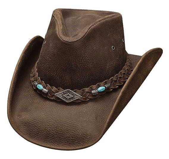 Amazon.com  Montecarlo Bullhide Hats ROYSTON Top Grain Leather Western  Cowboy Hat  Sports   Outdoors 977b15d97806
