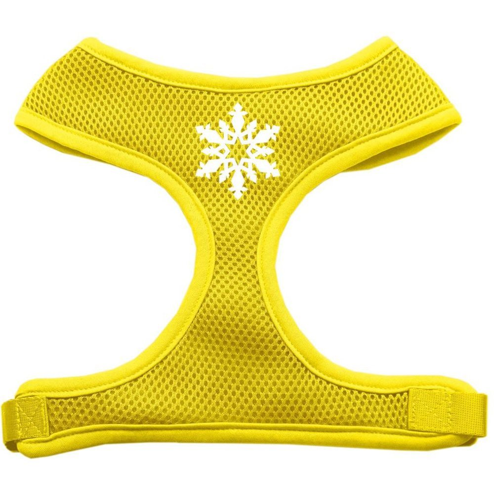Mirage Pet Products Snowflake Design Soft Mesh Dog Harnesses, Large, Yellow