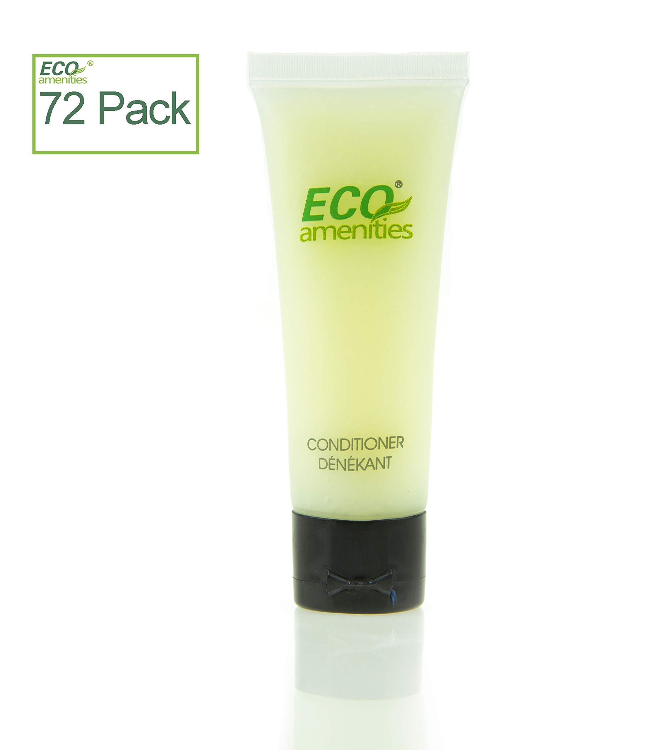 ECO AMENITIES Transparent Tube Flip Cap Individually Wrapped 30ml Conditioner, 72 Tubes per Case
