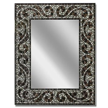 Amazon De Head West Espresso Mosaik Spiegel 55 9 X 71 1 Cm