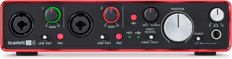 Focusrite Scarlett 2i4 2nd Gen - Interfaz de Audio: Amazon.es: Instrumentos musicales