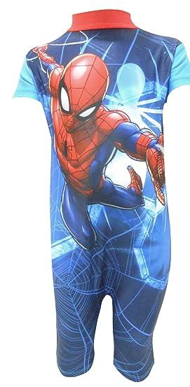 24324fb9f8f Amazon.com: Marvel Spiderman Boys UV Swimsuit: Clothing