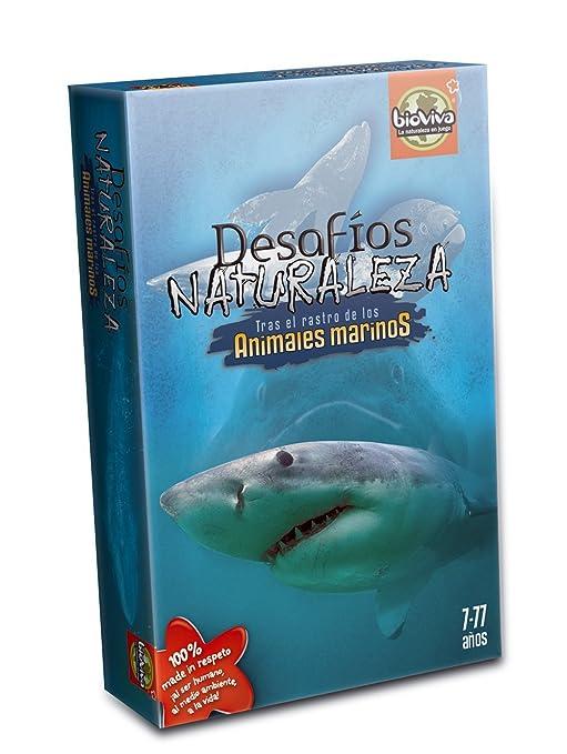 Bioviva- Juego de Cartas Desafíos Naturaleza Animales Marinos (Asmodee 306)