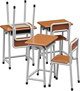 HASEGAWA 62001 1/12 School Desk & Chair - For Toy Figures