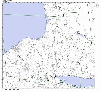 Map Of New York Oswego.Amazon Com Oswego County New York Ny Zip Code Map Not Laminated