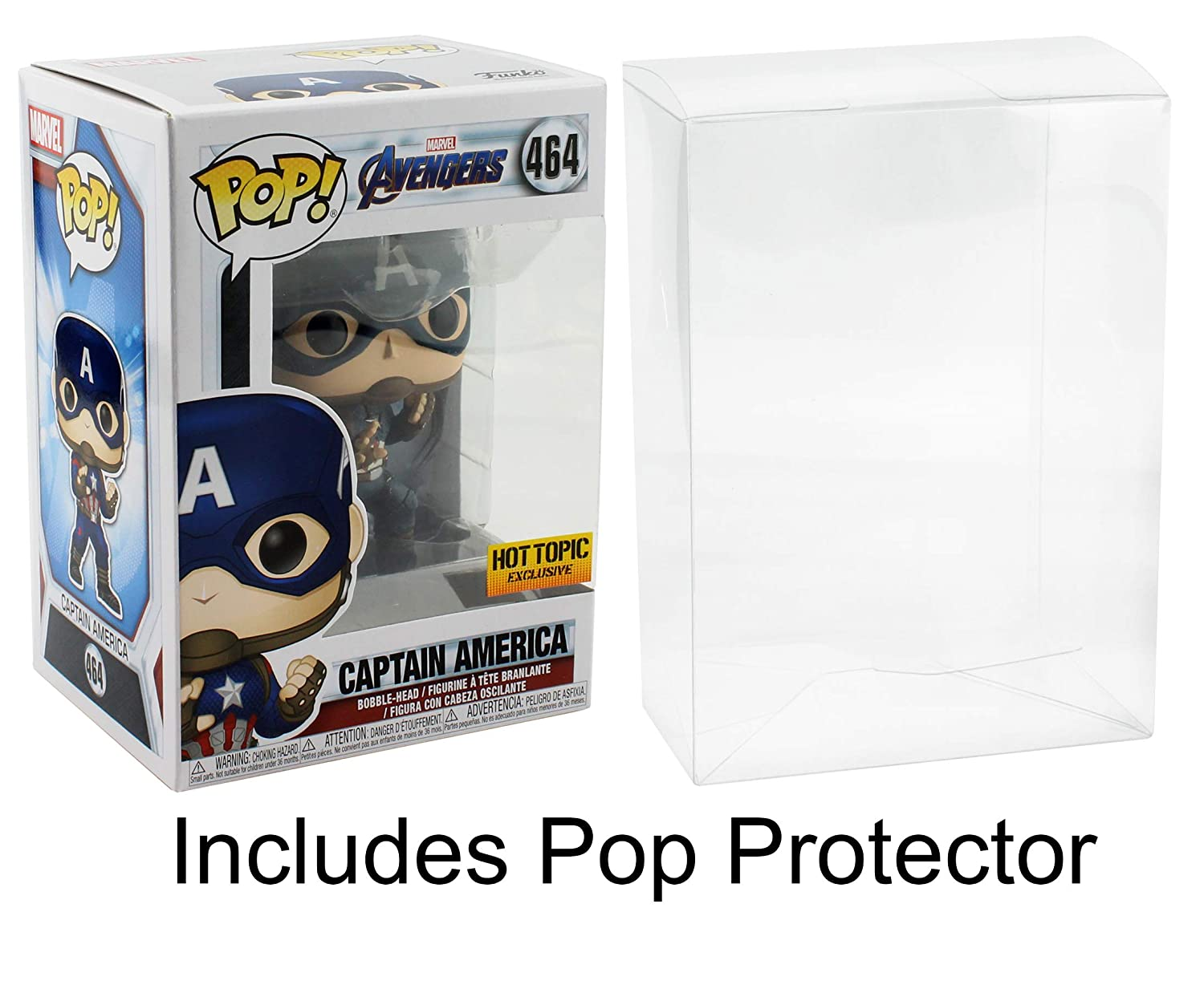 Funko POP Avengers Captain America HotTopic Exclusive with Pop Protector