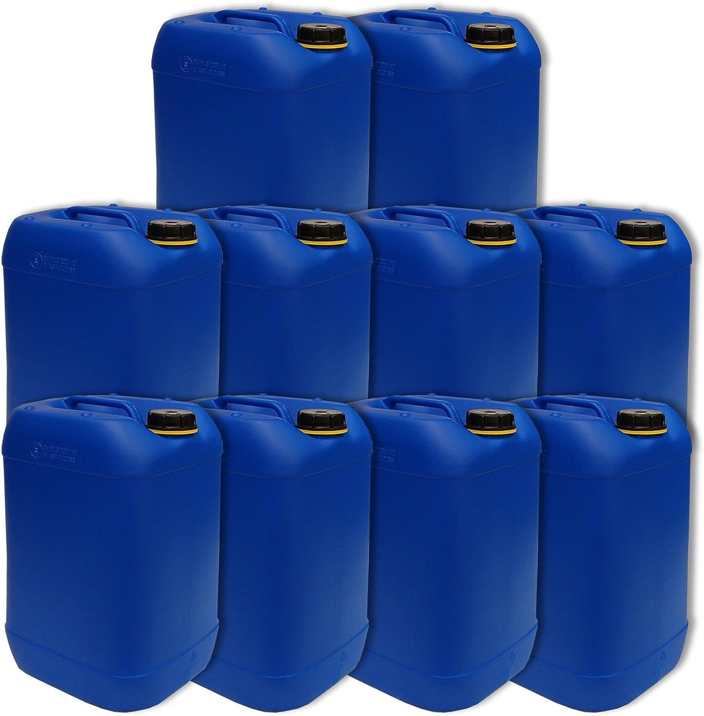 Wilai GmbH Lote de10 bidones de Polietileno/Jerrycan 25 L Azul HDPE DIN61 Calidad alimentaria (10x22248)