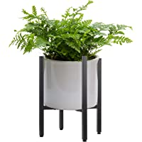 Metal Plant Stand Indoor with Adjustable Width Fits 8 to 12 Inch Pots,Mid-Century Flower Holder for Corner Display-Black…