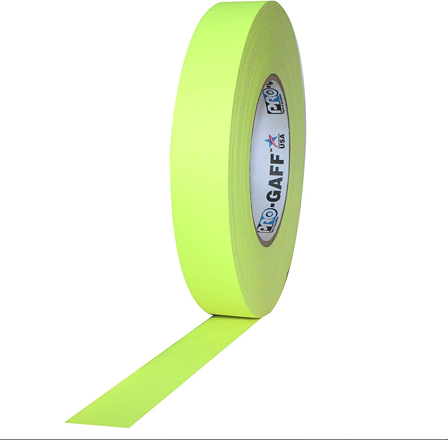 1 Width ProTapes Pro Gaff Premium Matte Cloth Gaffers Tape With Rubber Adhesive Fluorescent Orange Pack of 1 50 yds Length x