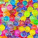 8 Ounces About 20000 Large Marble Size JellyBeadZ Water Bead Gel For Stress Balls Bright Rainbow Mix