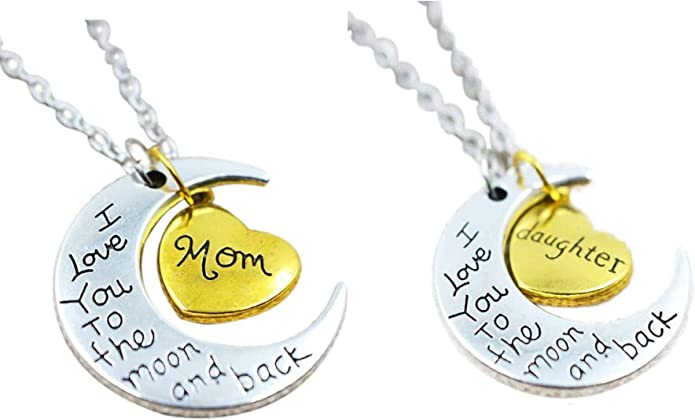 Pregnancy Necklace \u2022 New Mom Gift \u2022 Connecting Circles \u2022 To The Moon and Back \u2022 New Mother Gift Card \u2022 Expecting Baby \u2022 New Mom Jewelry