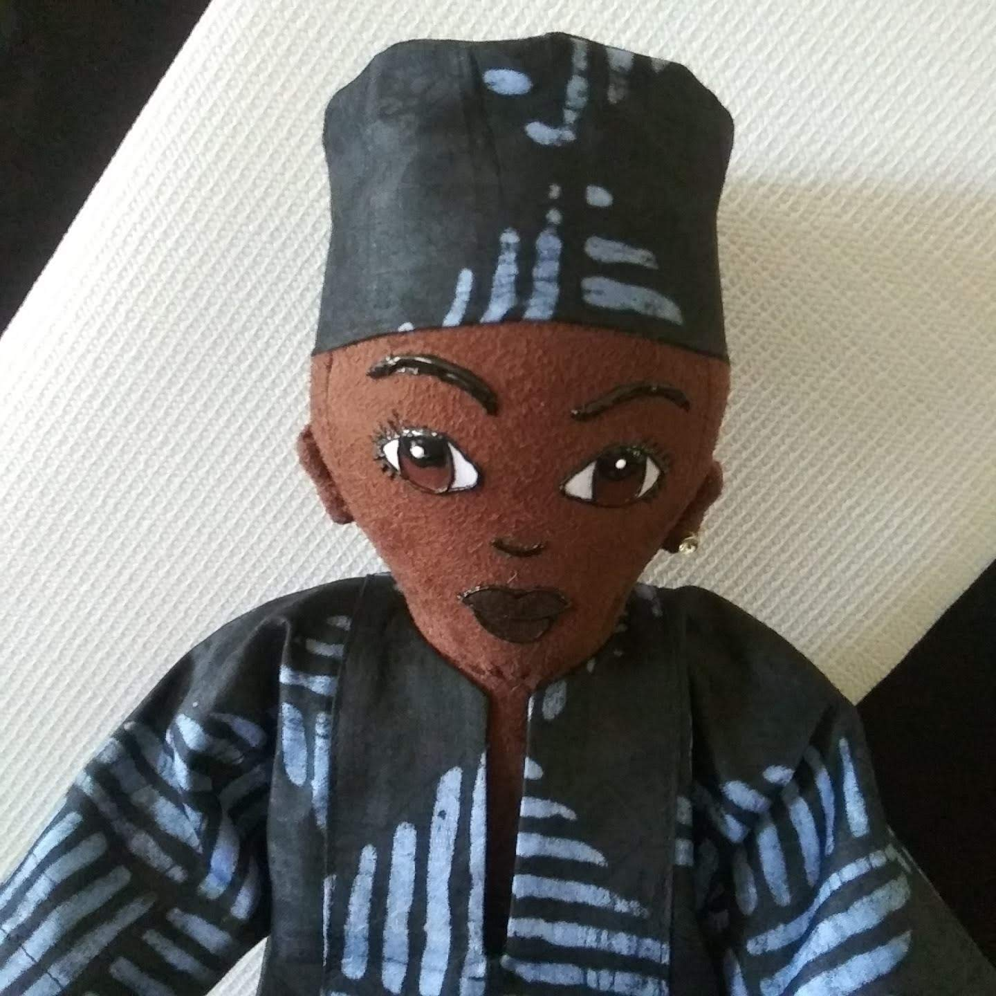 Handcrafted African Inspired Ethnic Doll African American Doll Collectible Doll 19 inch Doll African King Boy Doll Black Doll Black Doll Maker Multicultural Doll Hand Painted Male Doll
