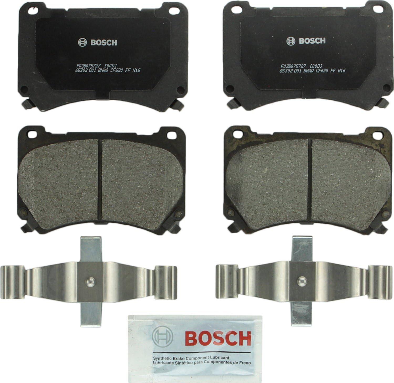 Bosch BP1396 QuietCast Premium Semi-Metallic Disc Brake Pad Set For Hyundai: 2011 Equus, 2009-2014 Genesis; Front