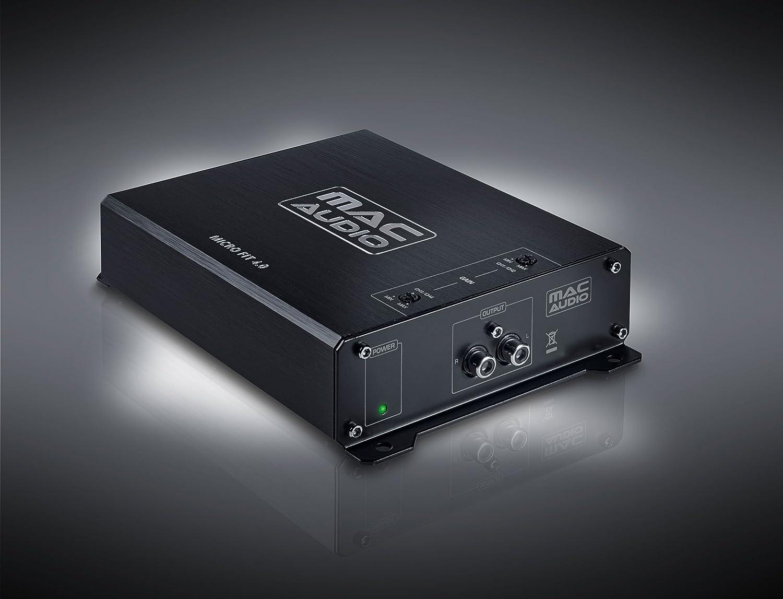 Mac Audio 1104304 Micro Fit 4.0-Ultra kompakter High-Power Class-D-Verst/ärker schwarz