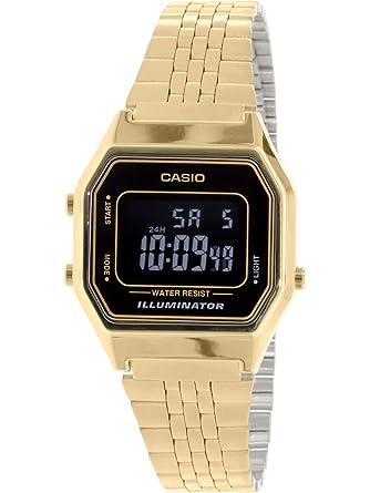 8d3aed418b7 Relógio Feminino Digital Casio Vintage LA680WGA-1BDF - Dourado ...