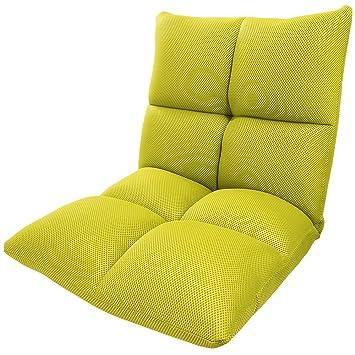 座椅子 座いす コンパクト チェア 椅子 リクライニング (メッシュグリーン)